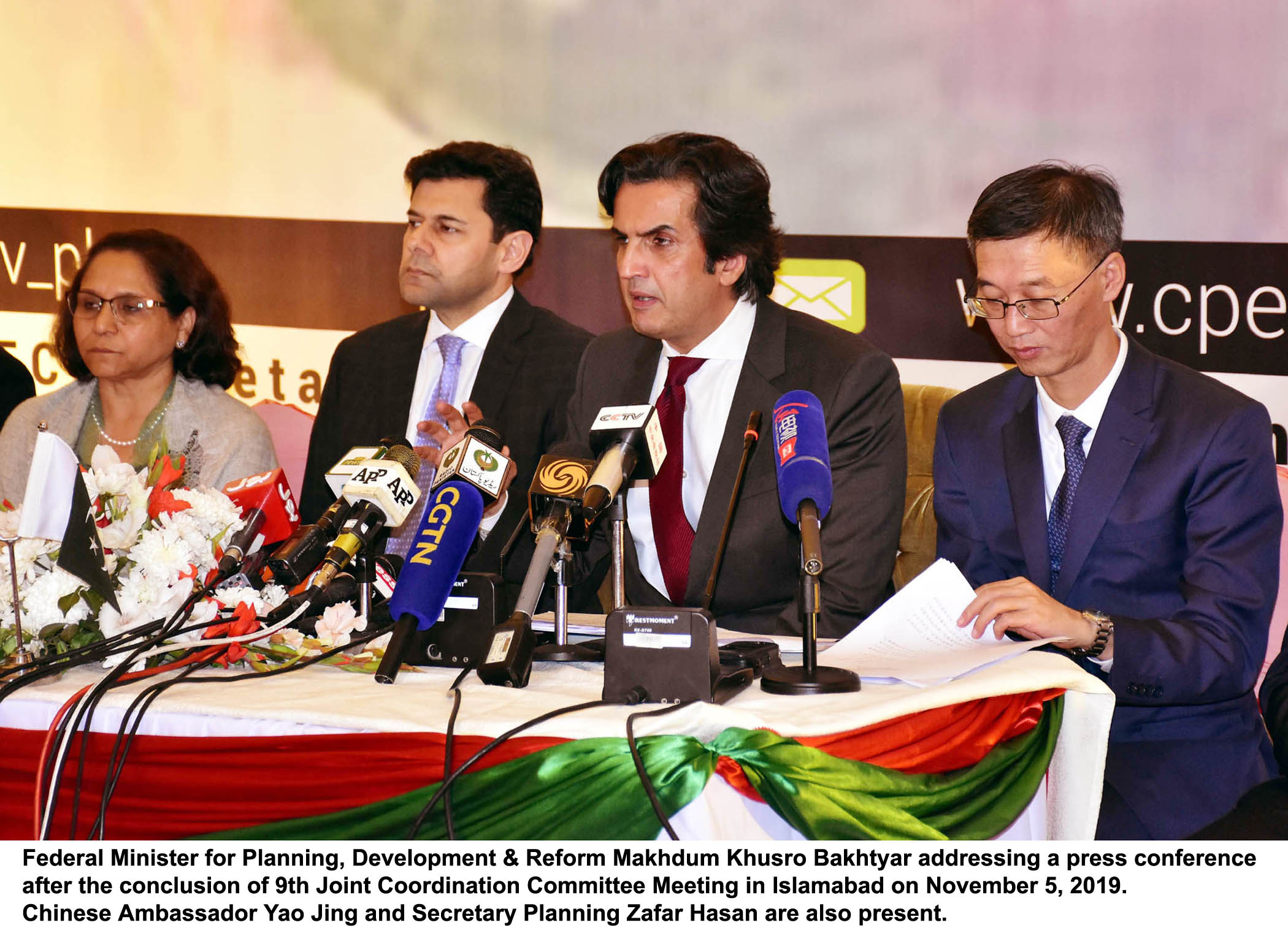9th Joint Cooperation Committee Meeting held in Islamabad on 05 November 2019.